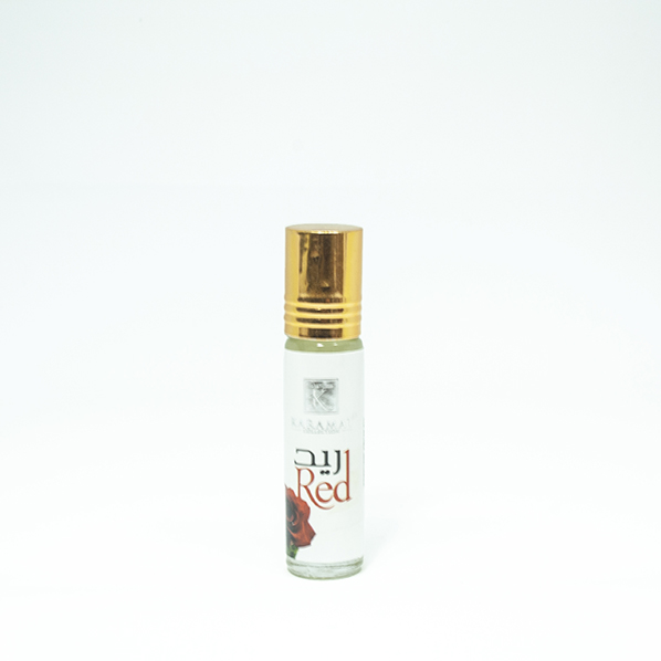 Red parfum roller, rozen met vanille parfum geur