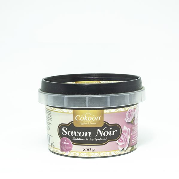 Zwarte Zeep / African Black Soap met rozen