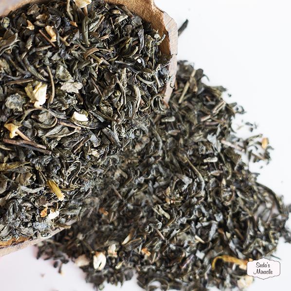 Natuurlijke groene thee jasmijn