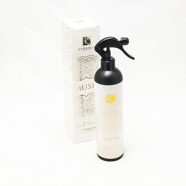 Roomspray, kamerspray of interieur parfum musk geur