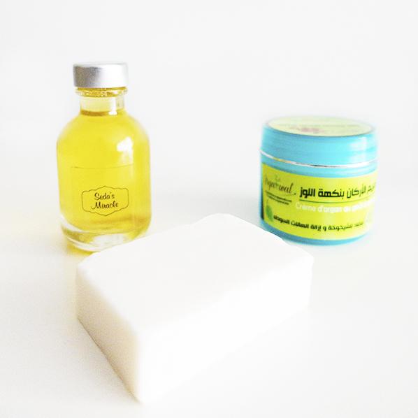 Argan beautypakket met pure natuurlijke arganolie, natuurlijke argan zeep en biologische argan creme