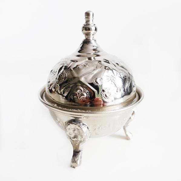 Handgemaakt authentiek Marokkaans bakje met deksel, xsmall