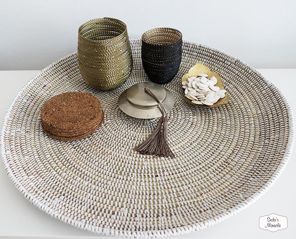 Handgemaakte Afrikaanse schaal
