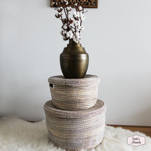 Handgemaakte Afrikaanse ronde manden set
