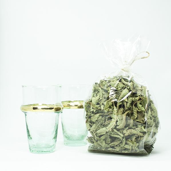 Tea special met 2 beldi glazen en verbena thee