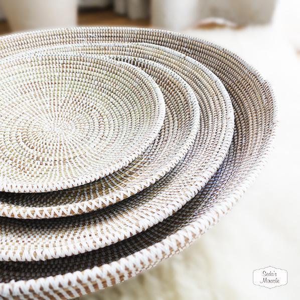 Handgemaakte Afrikaanse schalen, klein, groot, diep en plat