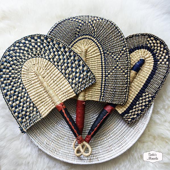 Handgemaakte Afrikaanse waaier