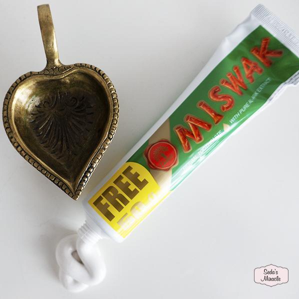 Herbal miswak tandpasta met natuurlijke fluoride