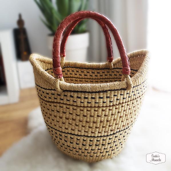 Aziza handgemaakte Afrikaanse tas/mand van zeegras