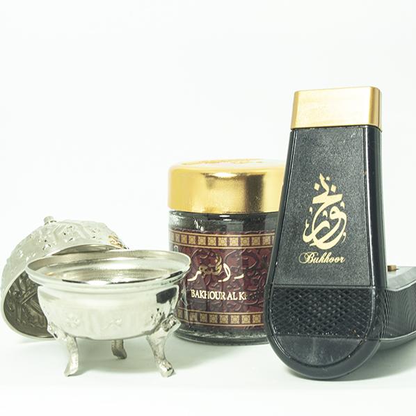Oplaadbare elektrische bakhoorbrander met bakhoor al khanger met een authentieke Marokkaans bakje met deksel