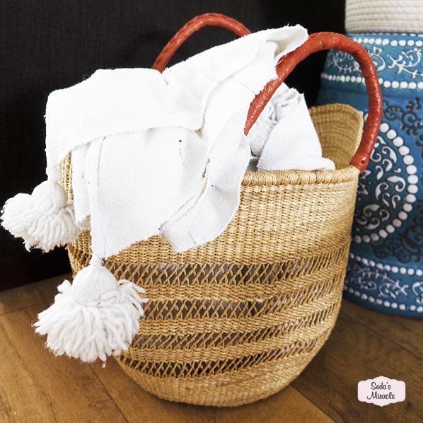 Yasmina handgemaakte Afrikaanse tas/mand van zeegras