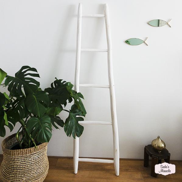 Handgemaakte Marokkaanse ladder voor de badkamer, slaapkamer, woonkamer en de hal