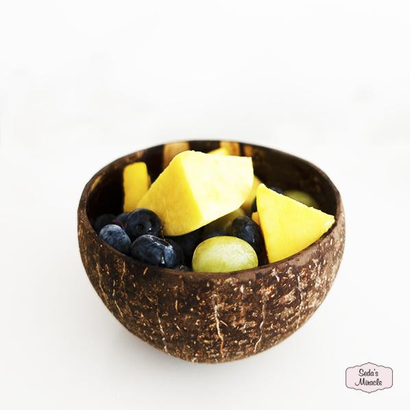 Coco kom, handgemaakt van kokosnoot