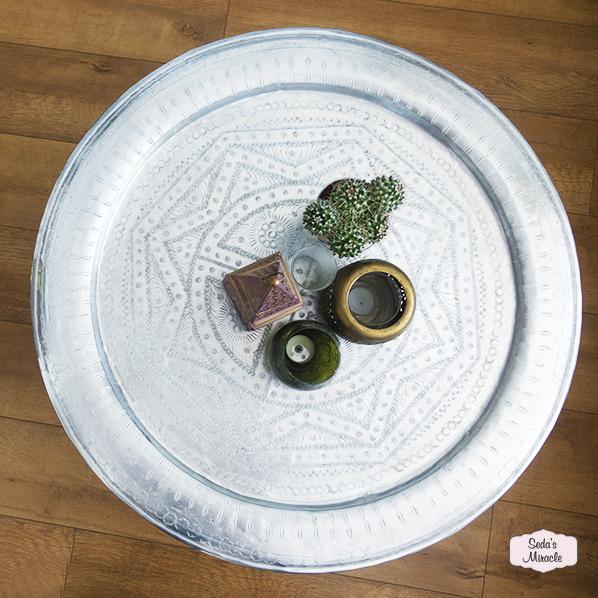 Handgemaakt authentiek Marokkaans Berber vintage tafel