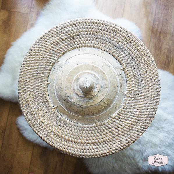 Handgemaakte Amondij wasmand van bamboe