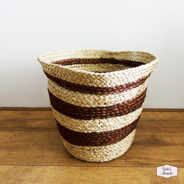 Handgemaakte Goedai mand, Fair Trade
