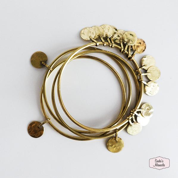 Handgemaakte Marokkaanse armbanden Moohn single en set van 3