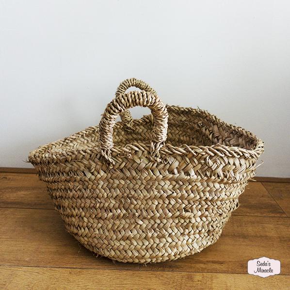 Handgemaakte Marokkaanse Beach tas / mand van riet