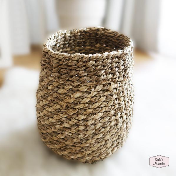 Handgemaakte Noorah mand van zeegras