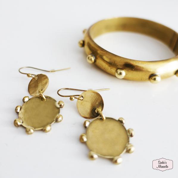 Handgemaakte Hannah oorbellen en Sumisha armband uit Marokko