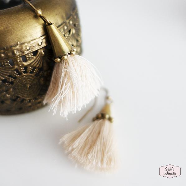 Tassel oorbellen, handgemaakt in Marokko