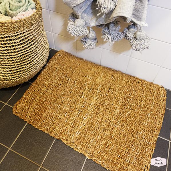 Handgemaakte Amane mat van zeegras