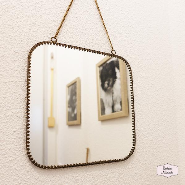 Handgemaakte vintage spiegel