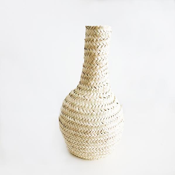 Handgemaakte Marokkaans palmblad vaas