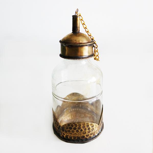Handgemaakt Marokkaans Issa olieflesje, small