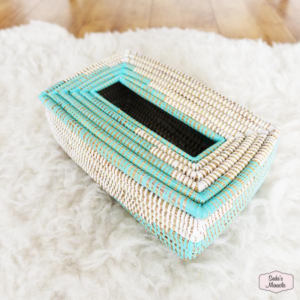 Handgemaakte Afrikaanse tissuebox