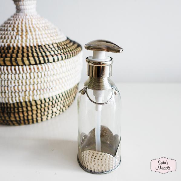 Handgemaakt Marokkaans zeeppompje zilver