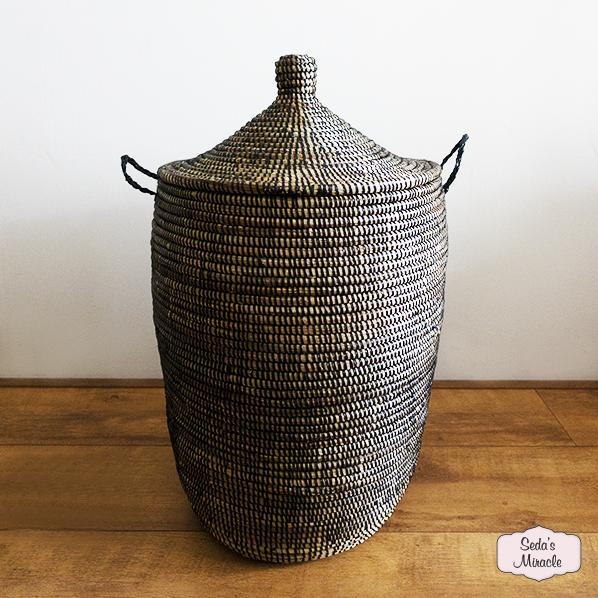 Handgemaakte Afrikaanse wasmand, medium