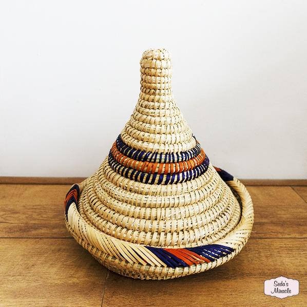 Handgemaakte Marokkaanse Berber Taqli tajine mand, medium