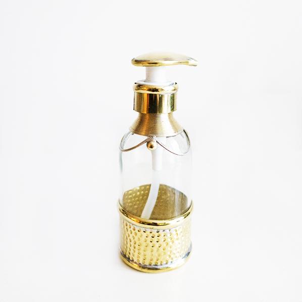Handgemaakt Marokkaans zeeppompje, goudkleurig