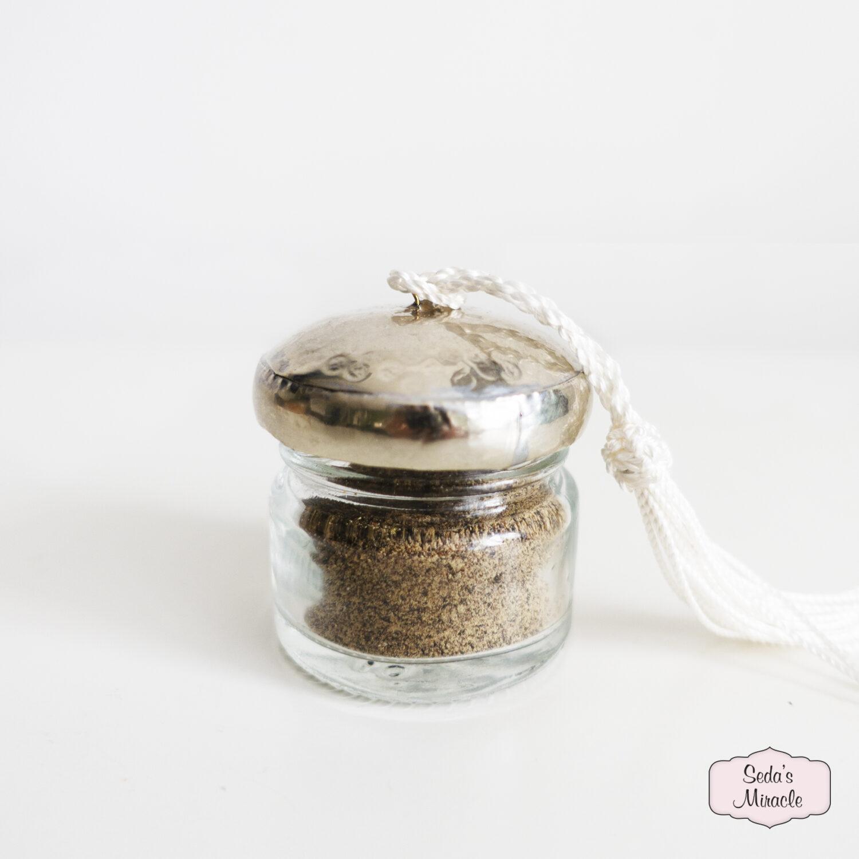 Handgemaakt Marokkaans Nunu potje zilver, petit
