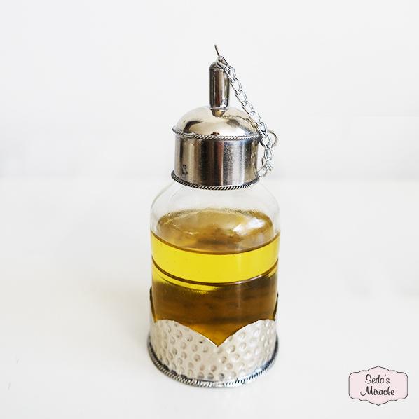 Handgemaakt Marokkaans Issa olieflesje, zilver
