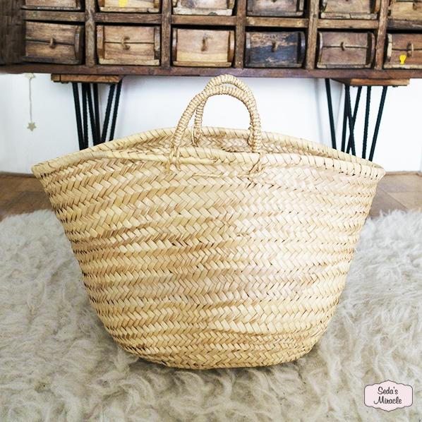 Handgemaakte Marokkaanse tas van palmblad, small