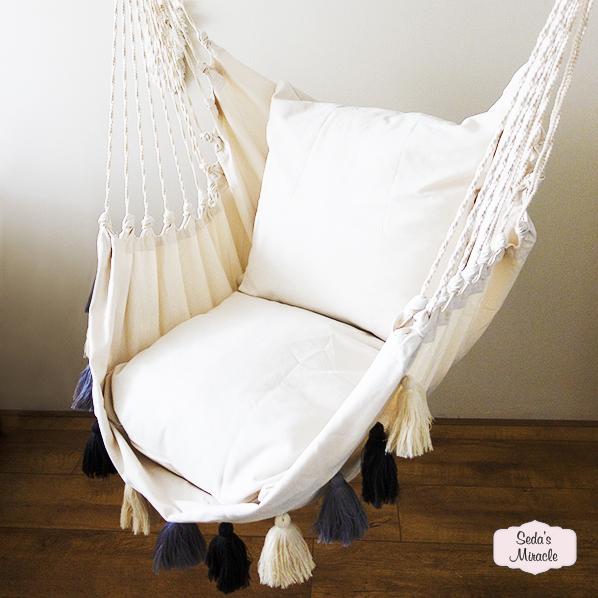 Handgemaakte Salva hangstoel