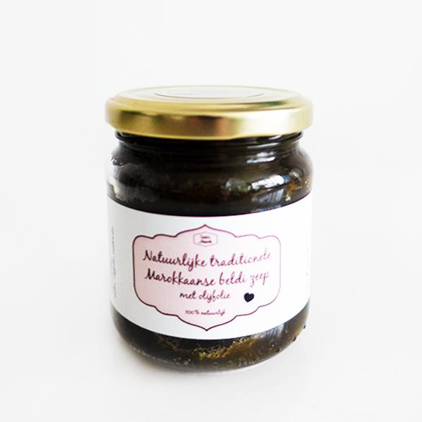 Natuurlijke traditionele Marokkaanse Beldi zeep met olijfolie