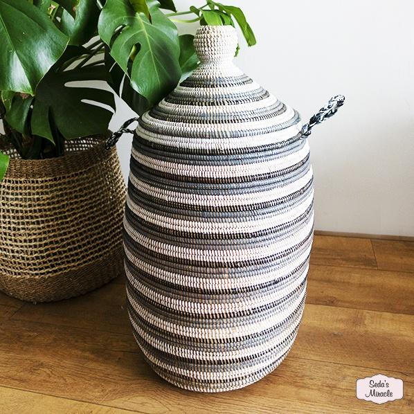 Handgemaakte Afrikaanse Zicka wasmand, medium