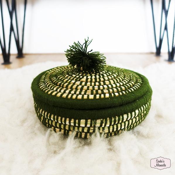 Handgemaakte Marokkaans Jewellery mandje groen, small