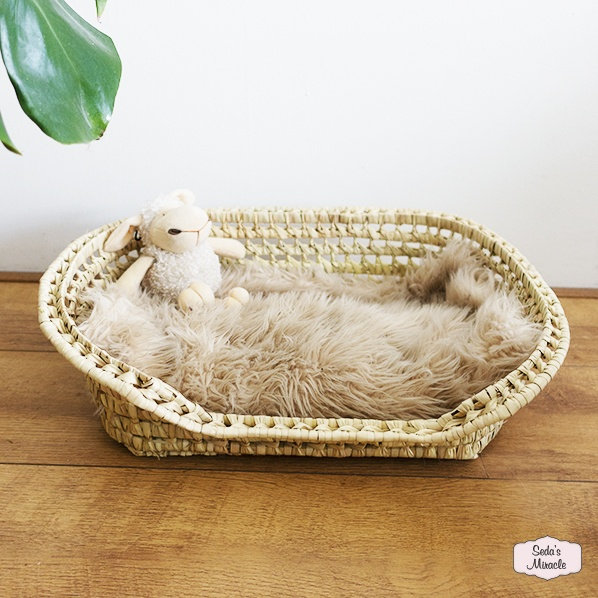 Handgemaakte Marokkaanse honden/kattenbed mand