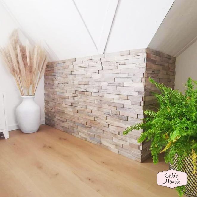 3D houten wandpanelen