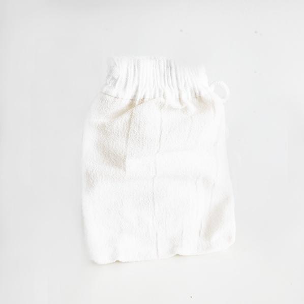 Hamam scrub handschoen of kessa glove, wit