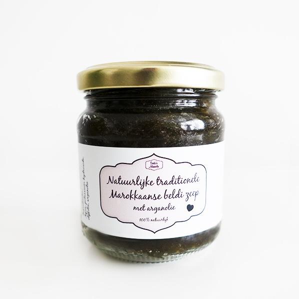 Natuurlijke Marokkaanse beldi zeep (Afrikaanse zwarte zeep) met arganolie