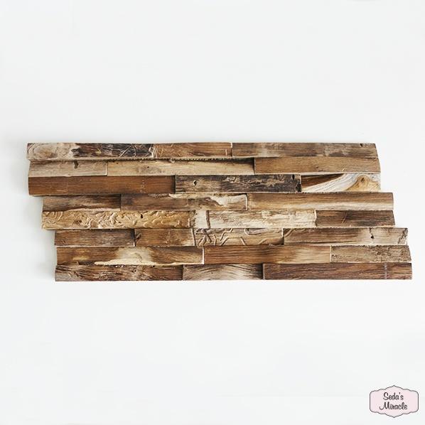3D houten wandpaneel Balih Wood, naturel