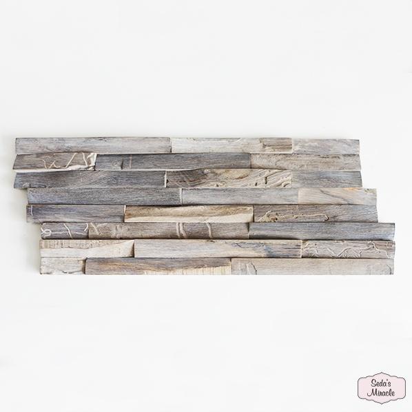 3D houten wandpaneel Balih Wood, weathered