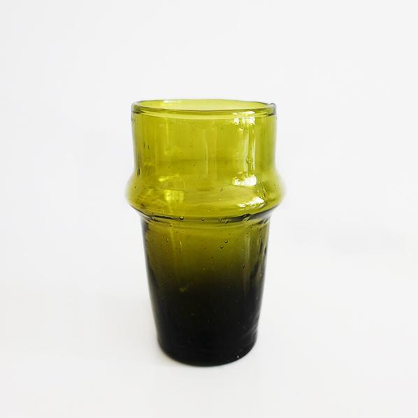 Handgemaakt Marokkaans beldi glas, geel