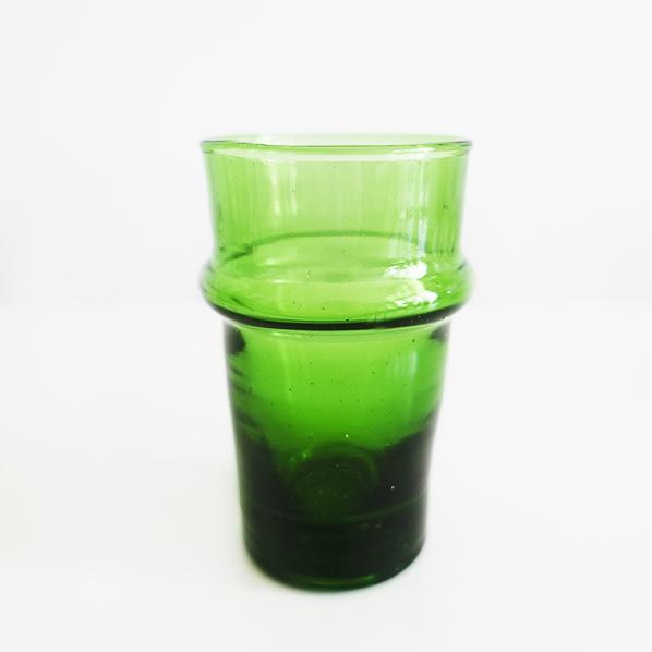 Handgemaakt Marokkaanse beldi glas, groen