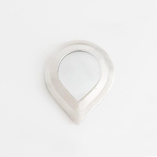Handgemaakt Marokkaans Olaz spiegeltje, zilver